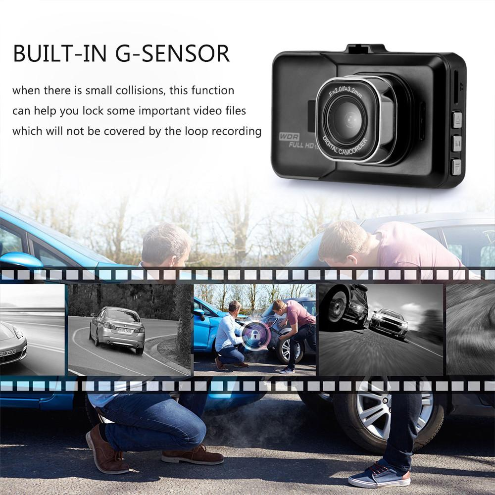 Dash Cam - Car DVR Recorder FHD 1080P With Night Vision / Motion Detection / Loop Recording