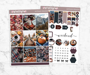 Autumn Delight Planner Stickers Full Kit Vertical