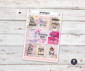 Bible Verses Inspirational Quotes Stickers