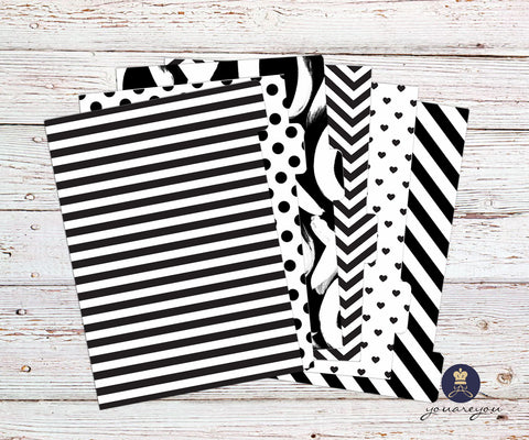 Black and White Planner Dividers