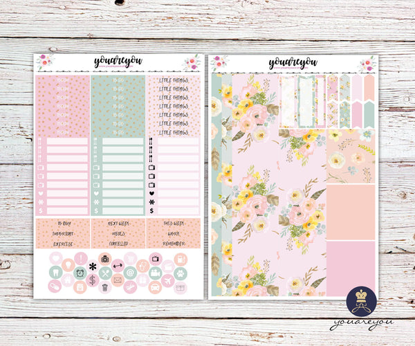 Boho Love Planner Stickers Full Kit Vertical