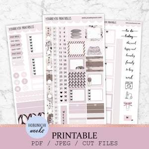 HOBONICHI Weeks Printable Stickers - Cozy Vibe