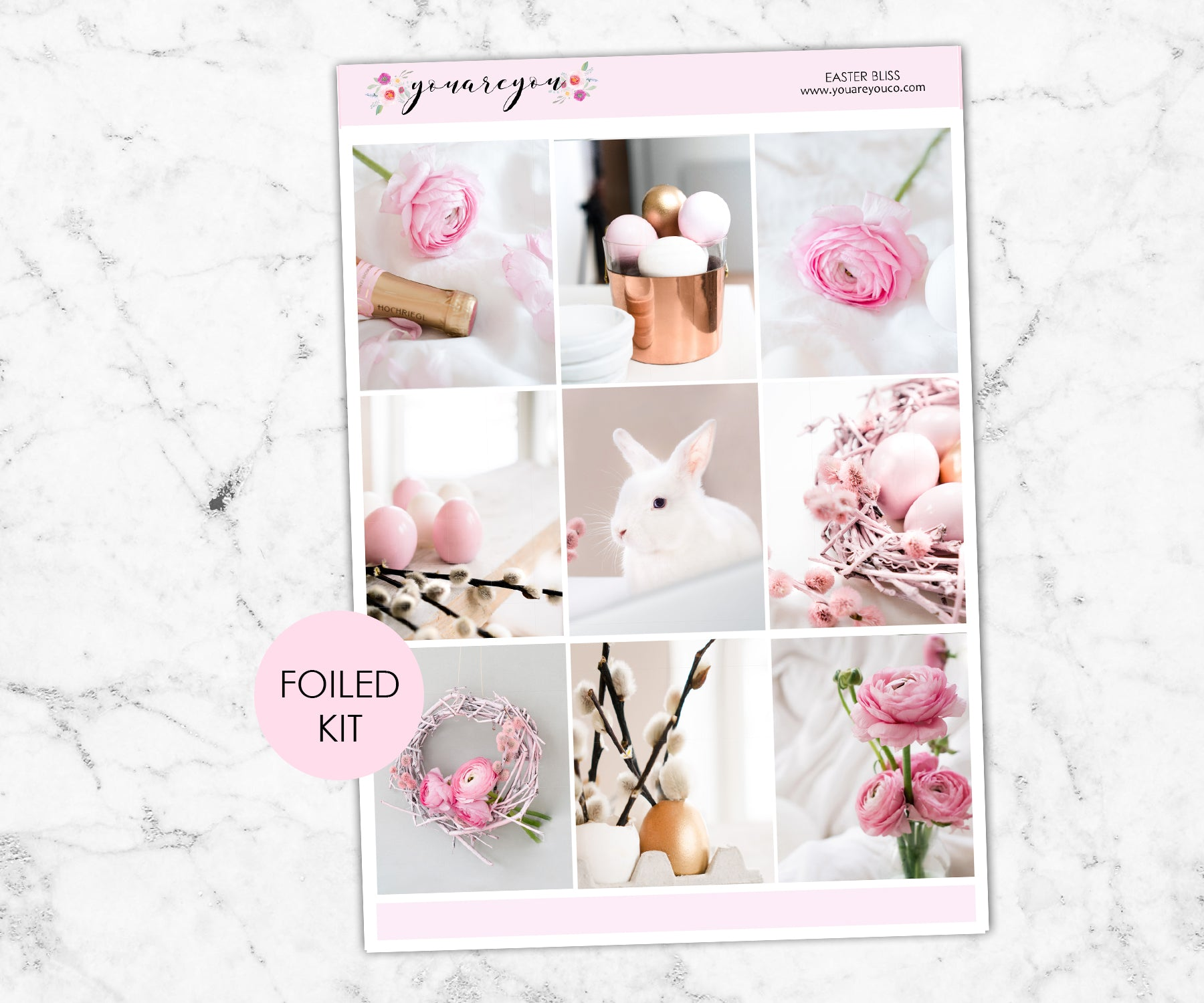 Foil Planner Stickers Full Kit - Easter Bliss