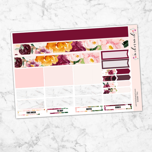 FOILED Planner Stickers Full Kit Vertical - Fall Breeze