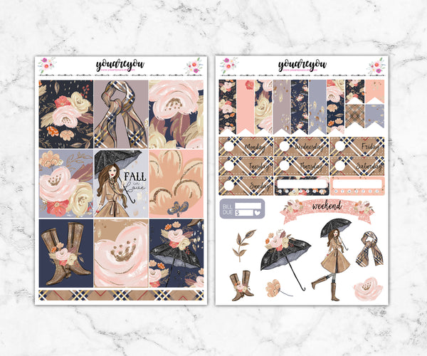 Fall In Love Planner Stickers Full Kit Vertical