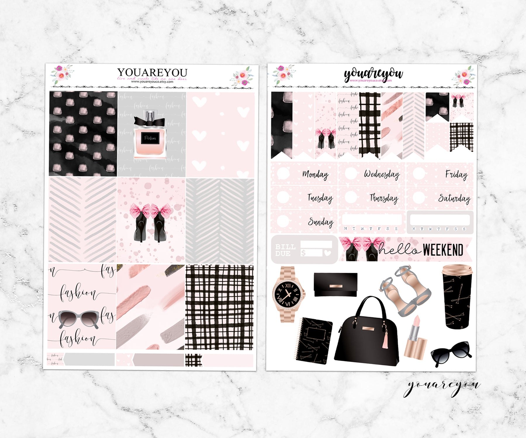 Fashionista Planner Stickers Full Kit Vertical