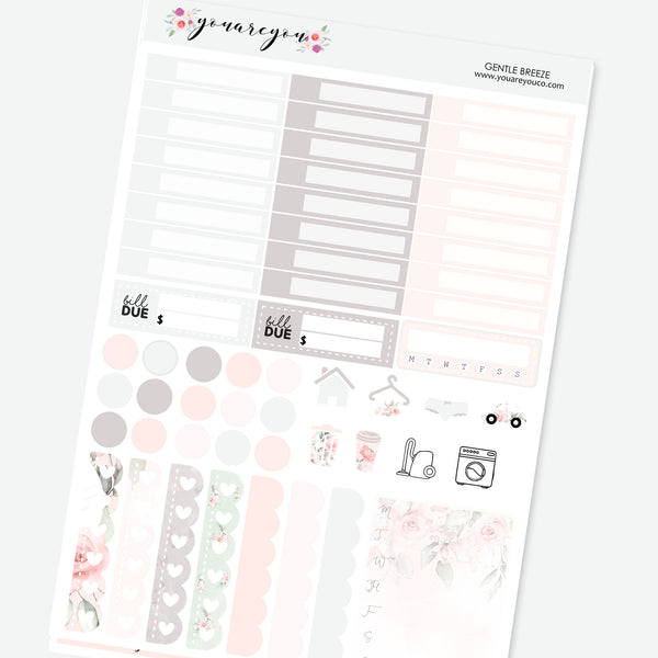 Foiled Planner Stickers Full Kit for Erin Condren - Gentle Breeze