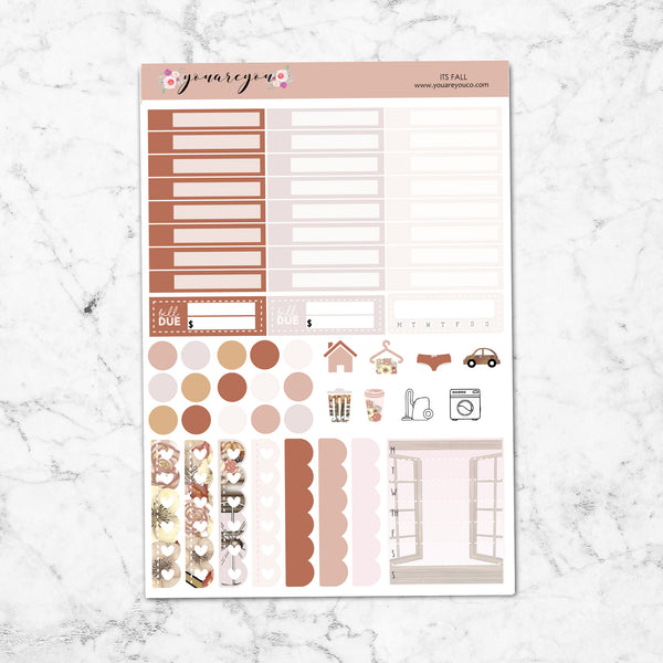 FOILED Planner Stickers Full Kit Vertical - Its Fall