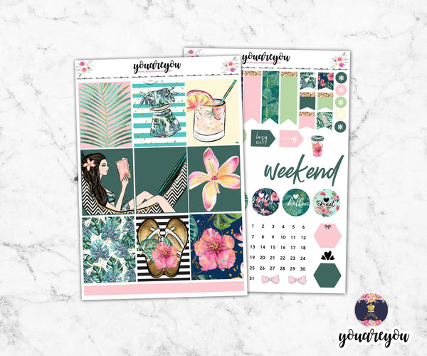 Lush Planner Stickers Full Kit Vertical