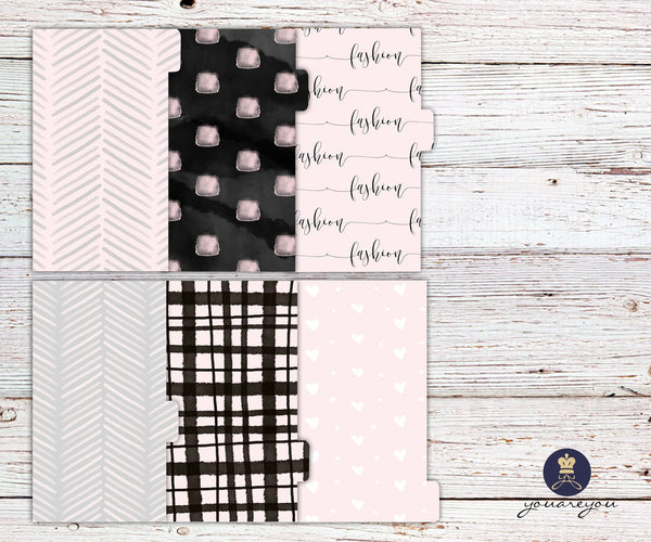 Pink Fashion Planner Dividers