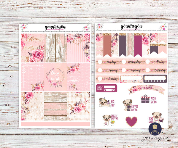 Rustic Beauty Planner Stickers Full Kit Vertical