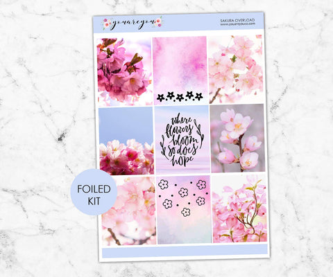 Foil Planner Stickers Full Kit - Sakura Magic