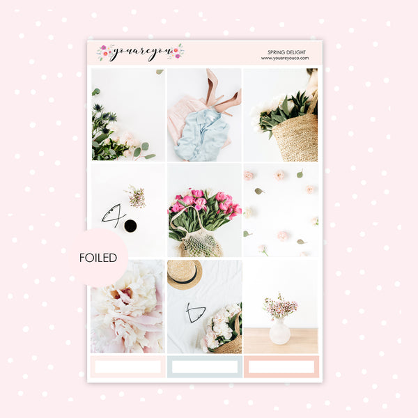 Foiled Planner Stickers Full Kit for Erin Condren - Spring Delight