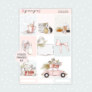 FOILED Planner Stickers Full Kit Vertical - The Best of Winter