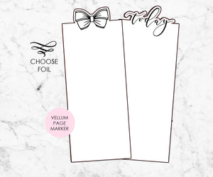 Foil Page Marker for Ring Bound Planner - Plain
