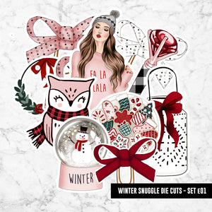Planner Die Cuts, Ephemera - Winter Snuggle Set No. 01