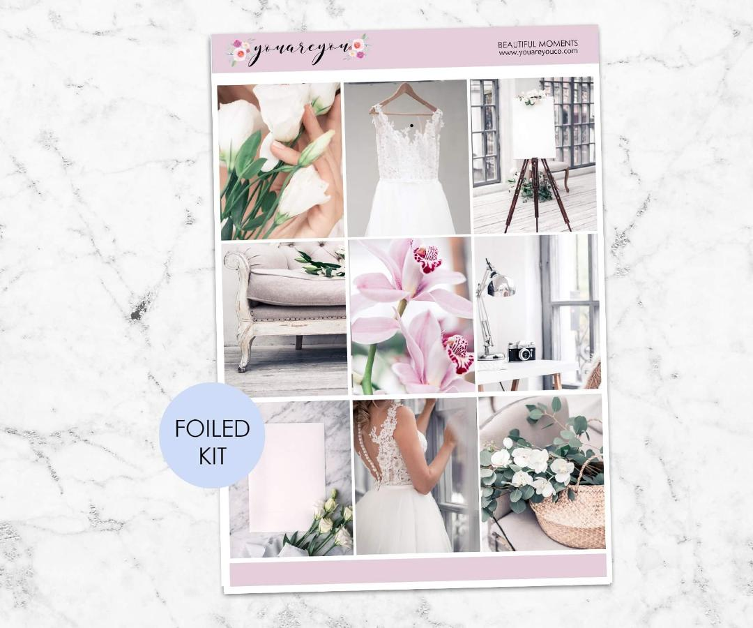 FOILED Planner Stickers Full Kit Vertical - Beautiful Moments