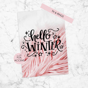 Foiled Planner Dashboard with Foil Accent for TN & Ring Planner - Hello Winter