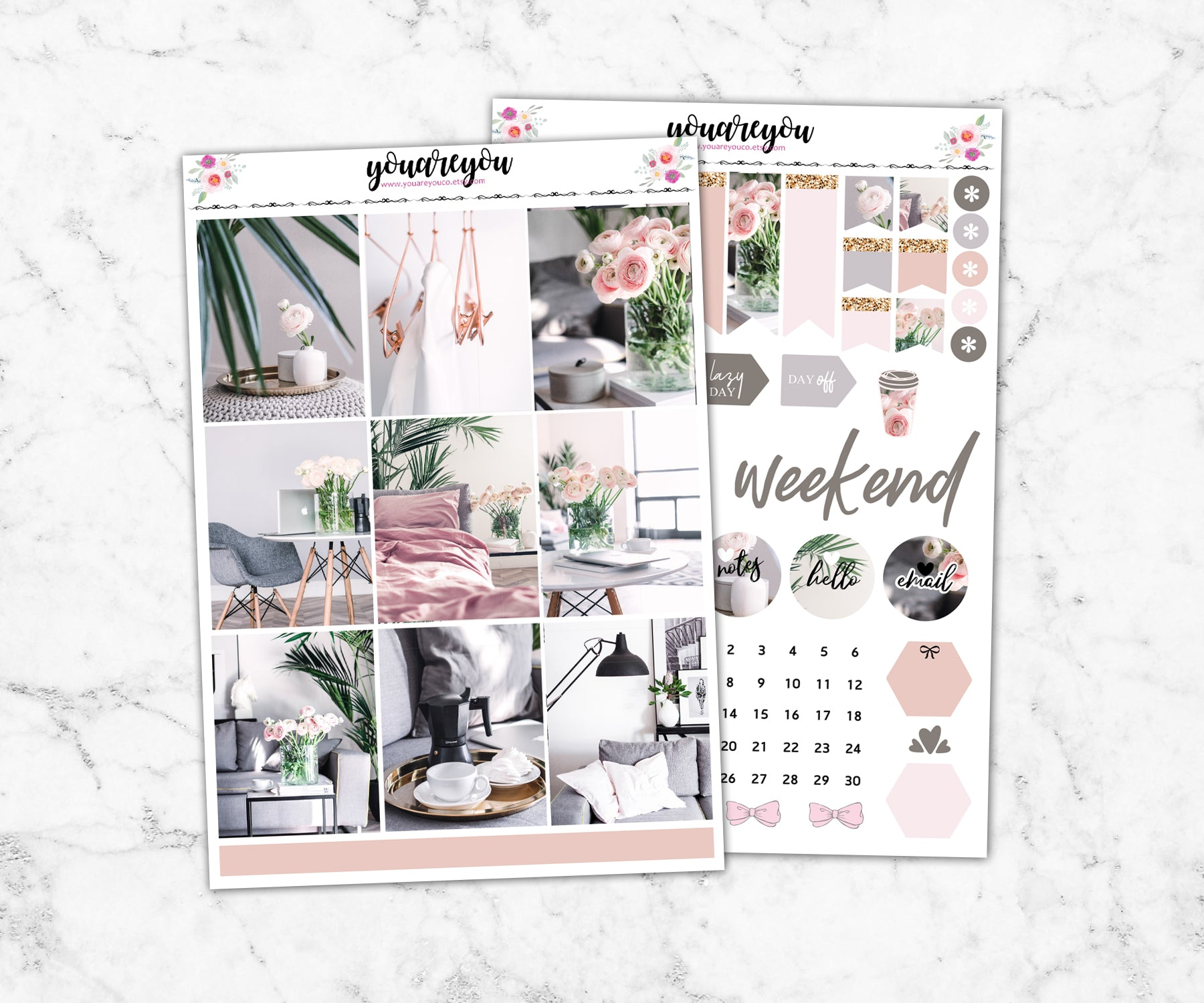 My Space Planner Stickers Full Kit Vertical