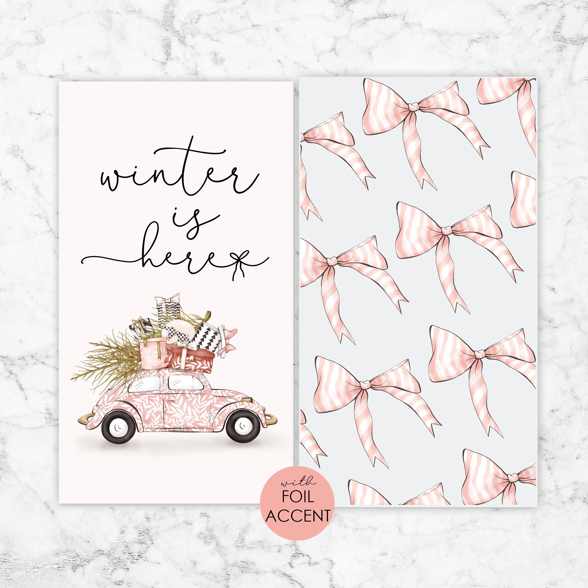 Planner Dashboards with Foil Accent - The Best of Winter