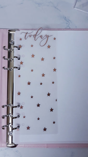 Foil Page Marker for Ring Bound Planner - Stars