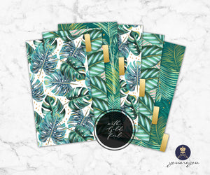 Foiled Tropical Vibes Planner Dividers