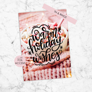 Foil Planner Dashboard with Foil Accent for TN & Ring Planner - Warm Holiday Wishes