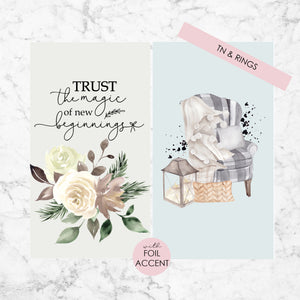 Planner Dashboards with Foil Accent - Winterful