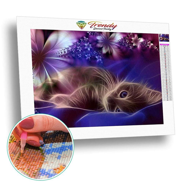 Chat illuminé | Diamond Painting - Animaux Chat Produit