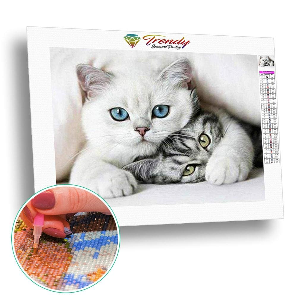 Chat protecteur | Broderie diamant kit complet - Animaux Chat Produit