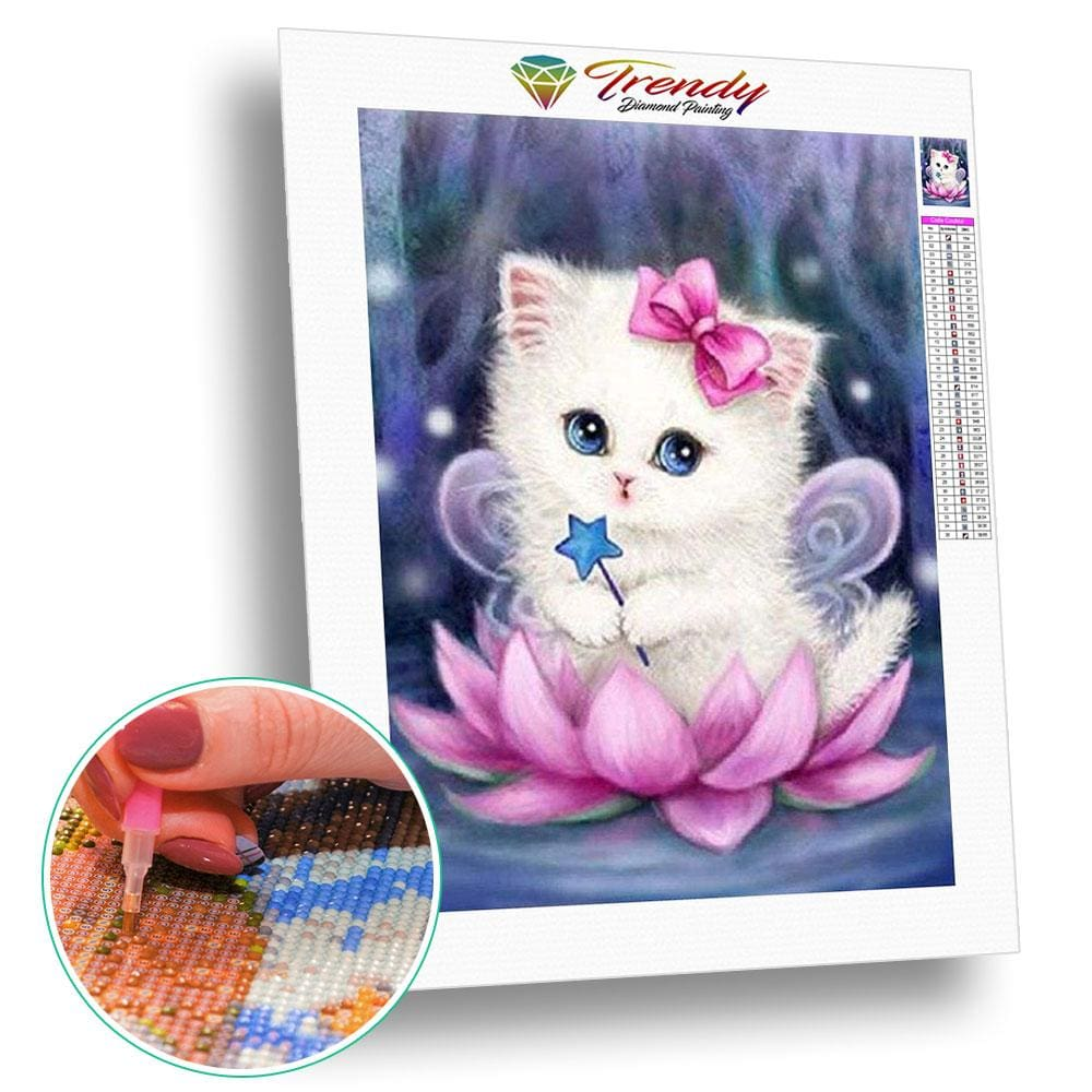 Chatoune princesse | Diamond painting kit - Animaux Chat Produit