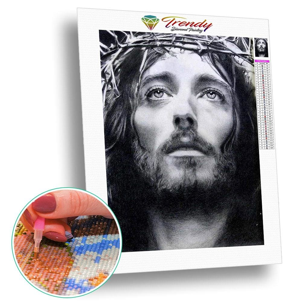La couronne dépines du Christ | Diamond painting complet - Christianisme Portrait Produit Religion