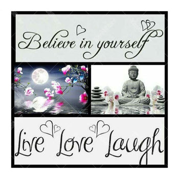 Message Bouddha Love | Broderie diamant kit - Portrait Produit Religion