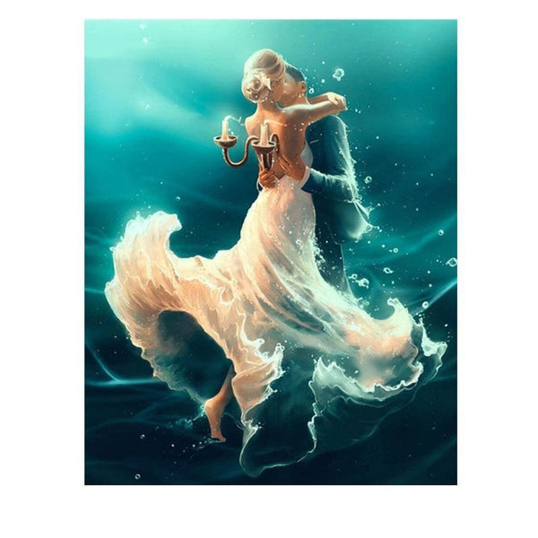 Une valse aquatique | Diamond Painting - Portrait Produit