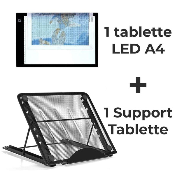 Tablette LED A4 & Support