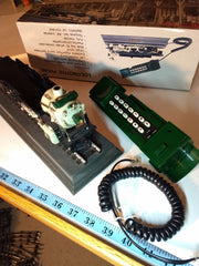 special,collectables, Cresent Train 1925 Telephone,In Box, early 1990, vintage FREE S&H