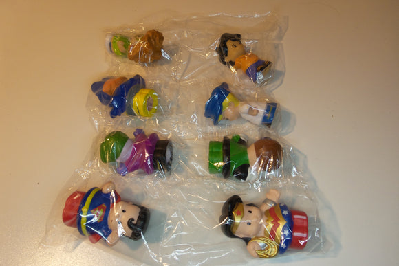 special,8 Little People, batgirl, green lantern, wonder woman,joker,superman, hero figures FREE S&H - VegasheatX