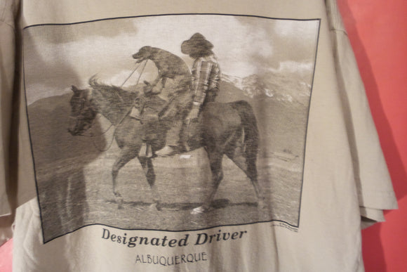 T shirt, cowboy, designated driver,dog on horse FREE S&H A11 - VegasheatX