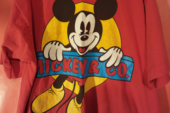 T Shirt, Mickey Mouse, disney Tee shirt, Red One size, FREE S&H A11 - VegasheatX