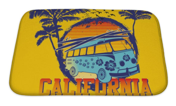 Bath Mat, Palm Beach Van Art - VegasheatX