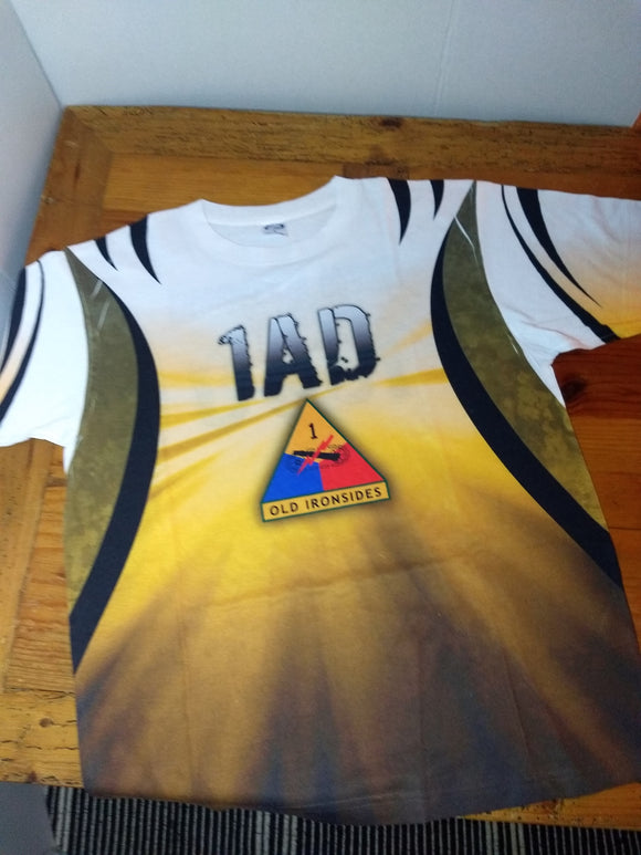 Special, for him vintage 1st Armour division, old Ironside, T Shirt,  tee, Sz.L