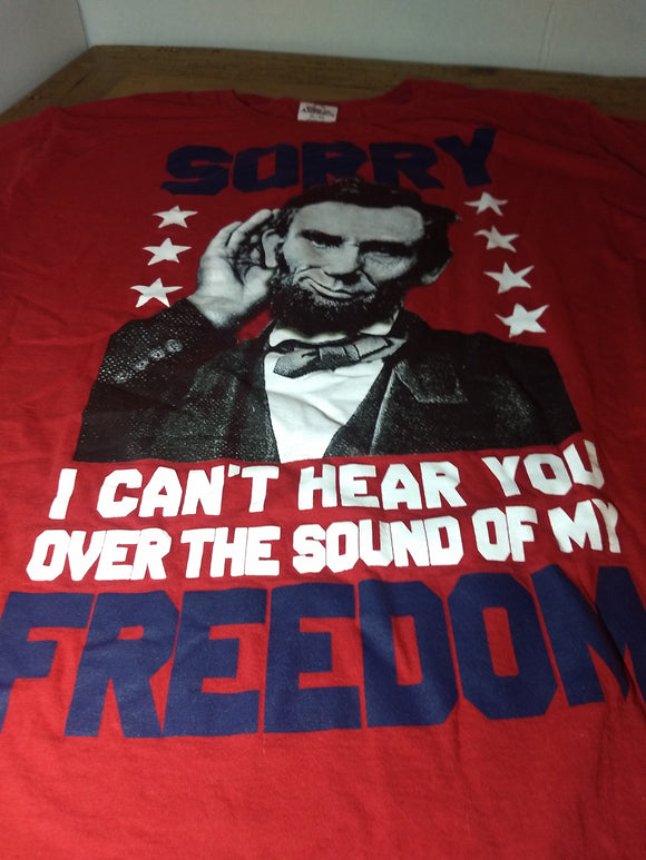 Special, USA freedom, Lincoln, patriot T Shirt,  tee, Sz. XL
