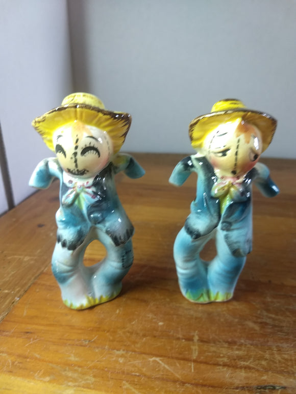 Vintage, Salt pepper shakers, Scarecows