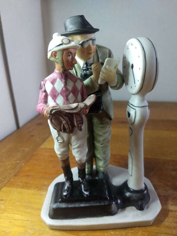 Vintage figurine, Norman Rockwell, the weigh in, Gorham
