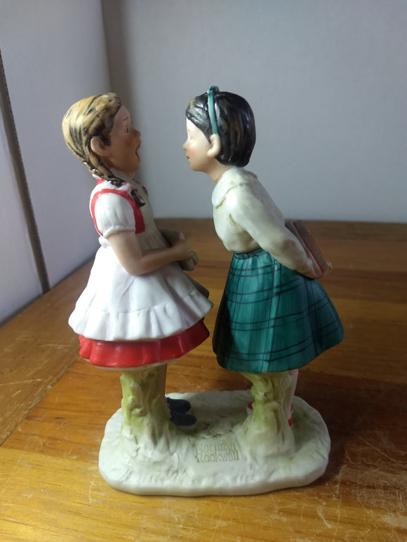 Vintage figurine, Norman Rockwell, missing tooth, Gorham