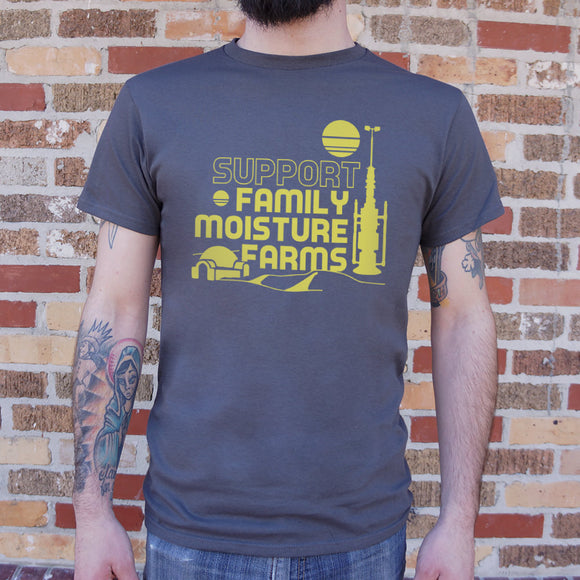 Support Family Moisture Farms T-Shirt (Mens) - VegasheatX