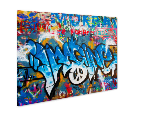 Metal Panel Print, Lennon Wall In Prague - VegasheatX