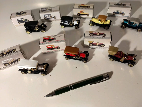 special, collectables, 7 Victoria Mini Antique Cars 2.5