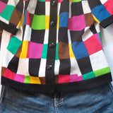 Vintage vintage Leslie Fay woman top ,colorful shirt FREE S&H - VegasheatX
