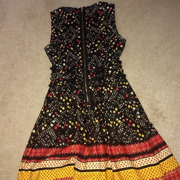 VintageDress, colorful, Racheal Roy, tag sz 10 FREE S&H - VegasheatX